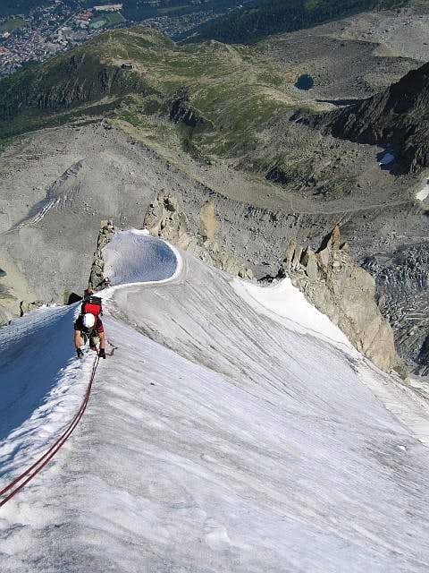 Climbing the Frendo Spur