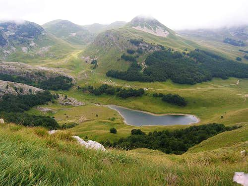 Orlovacko lake - view from...