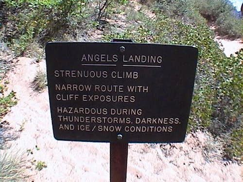 Sign at the trailhead (6/02)