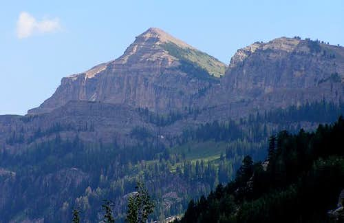 Mount Meek from the west face...