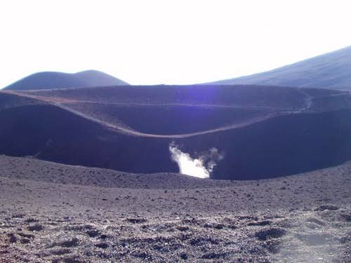 Sitting on the crater rim of...
