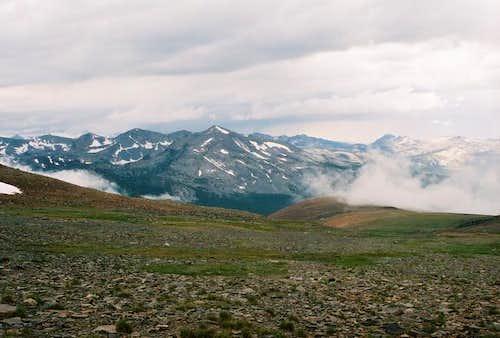 Dana Plateau after rain