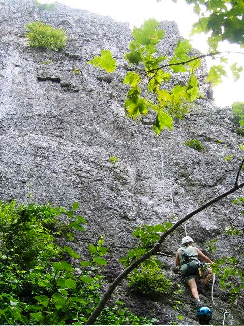Climber making first initial...