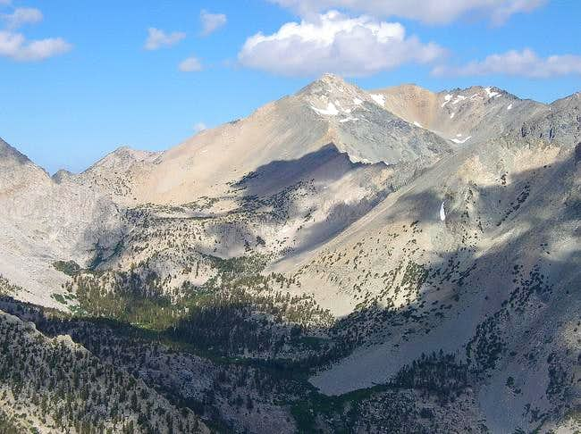 Mount Gould from the summit...
