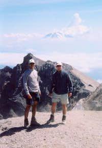 On the amazing summit of Mt....