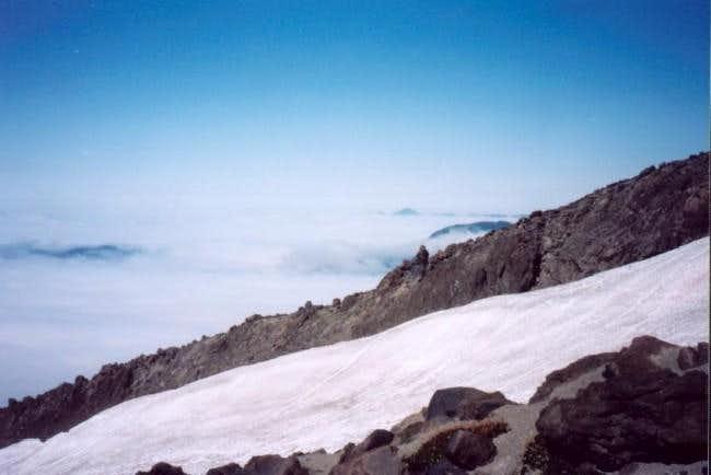 Half way up Mt. St. Helens, a...