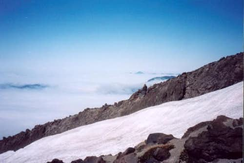 Half way up Mt. St. Helens, a...