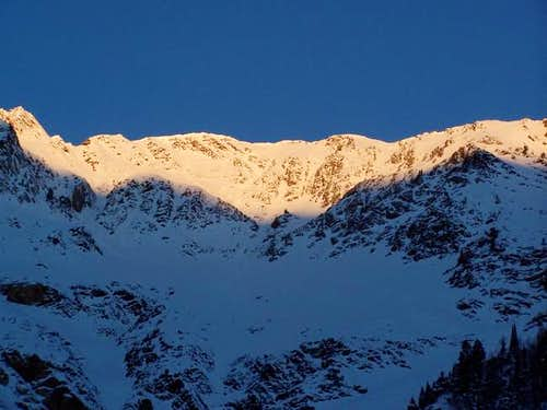 Sunrise after a run on Mt....