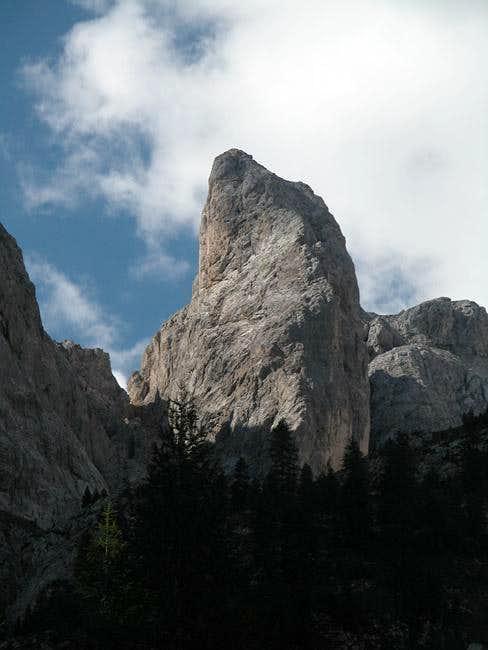 The north-western pillar of...