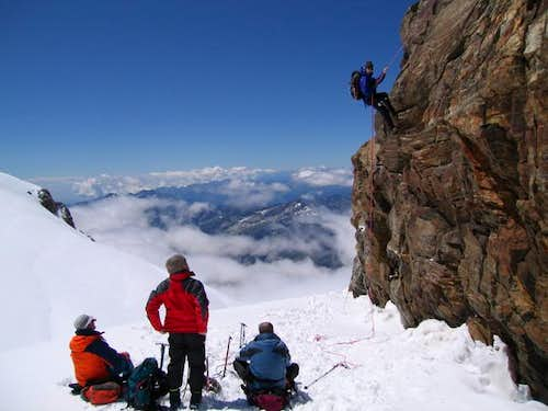 Abseiling the Balmenhorn with...