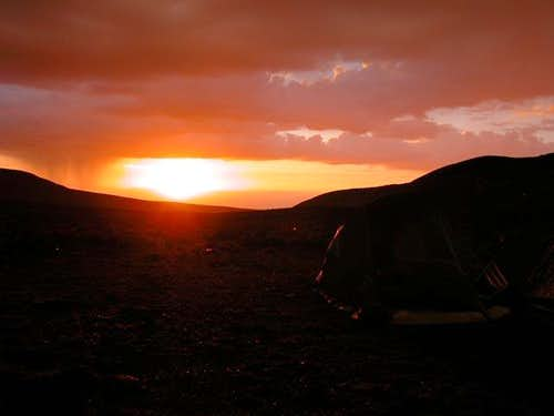 Sunset on the base camp after...