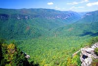 LINVILLE GORGE from shortoff...