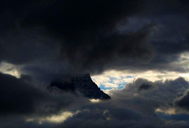 Matterhorn through a rift in...