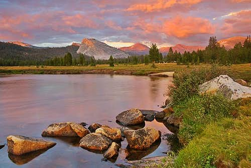 Tuolumne Meadows sunset after...