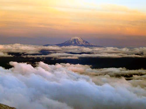 Mt Adams as seen at sunset...