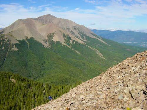 Once on the ridge, fine views...