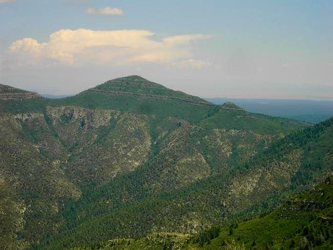 Mosca Peak and its shorter,...