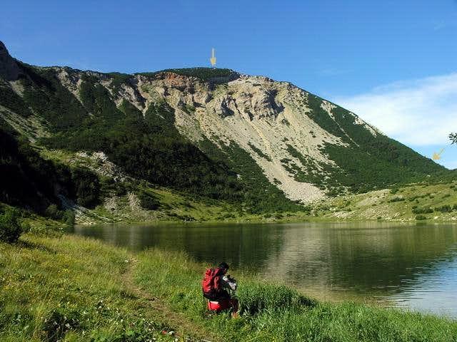 lake sator and peak above...
