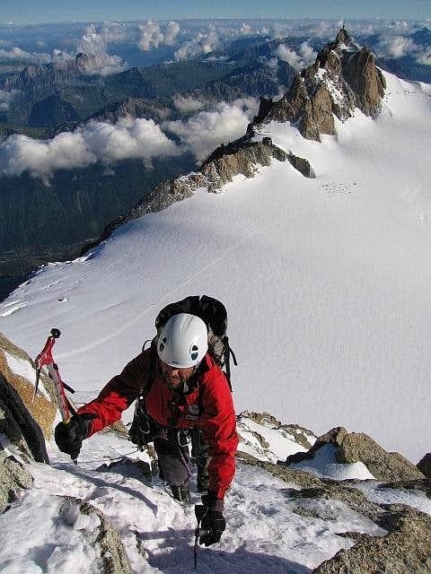 Climbing on the Contamine...