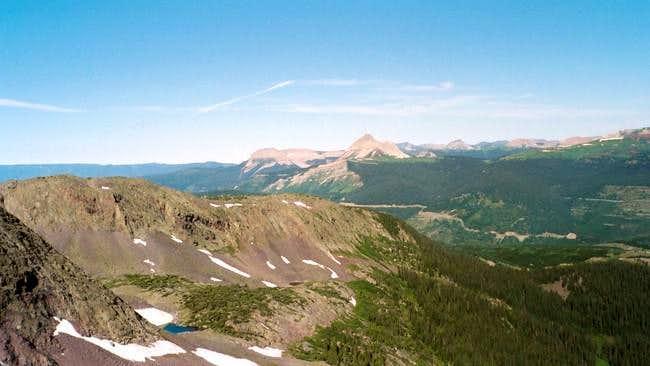 Looking west to Engineer Peak...