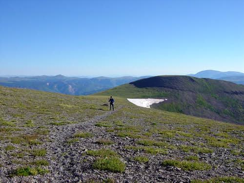 The summit ridge of Conejos...