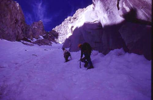 High in the North Couloir -...