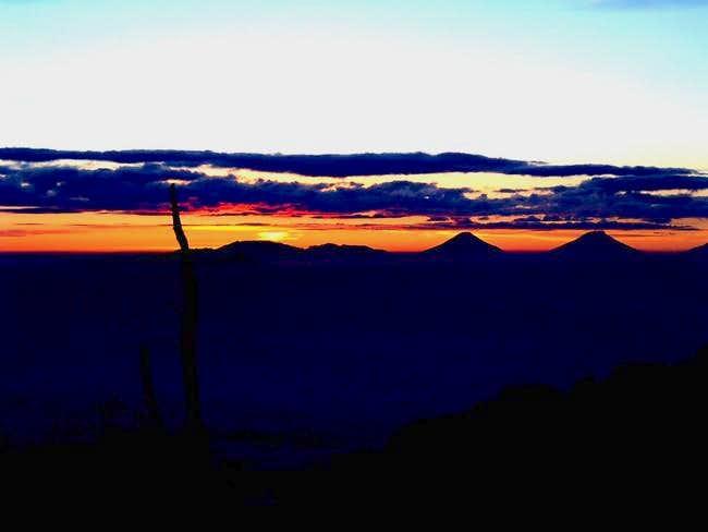 At dusk..sumbing and sundoro...