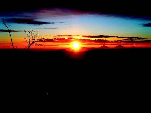 Sunrise at slamet