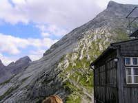 View from Watzmannhouse terrace