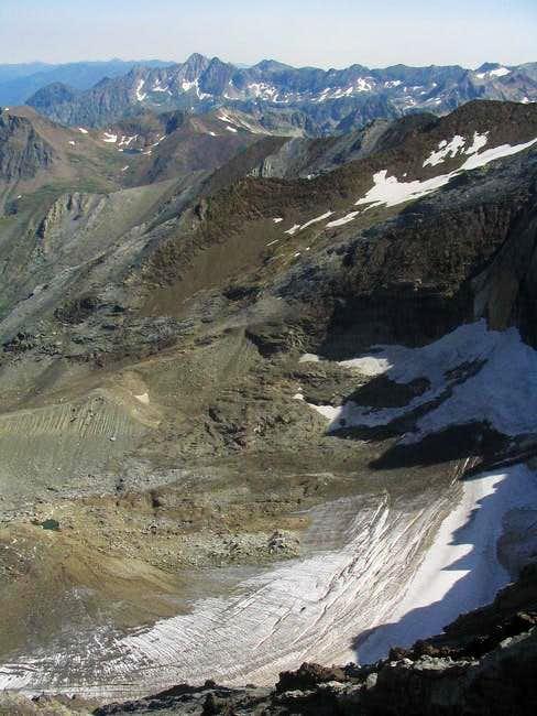 Las Espadas glacier viewed...