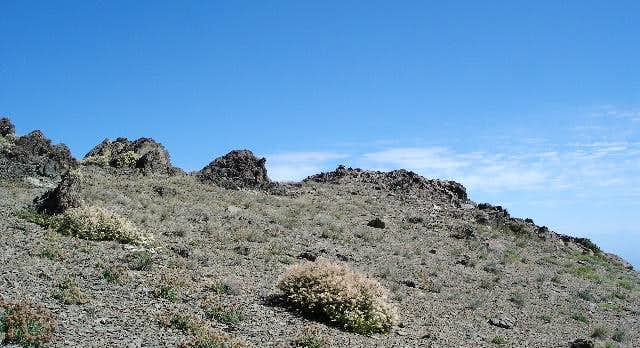 You can see the cairn on the...