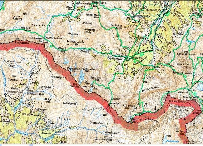 Overview of the Dreitürme...