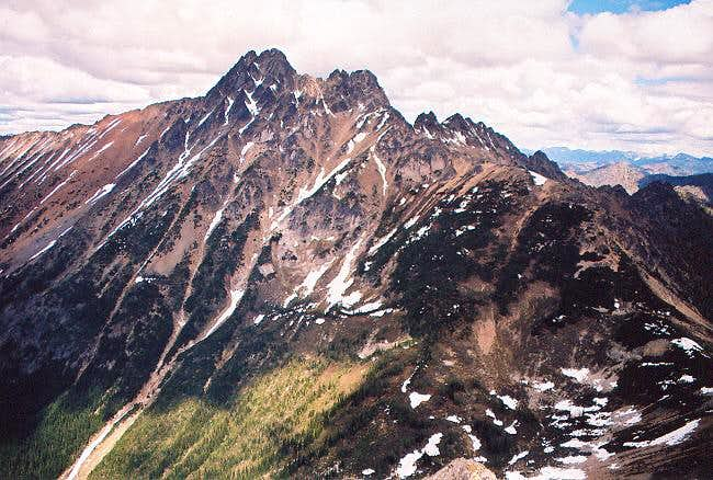Azurite Peak from the WSW...