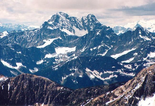 Mightly Black Peak from the...