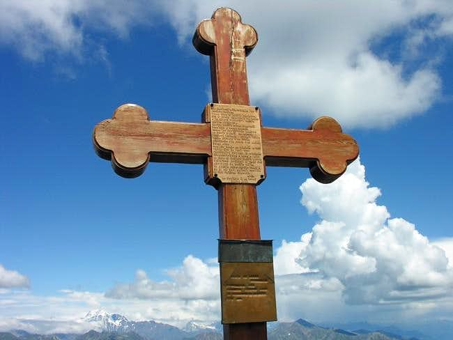 The cross placed on the...
