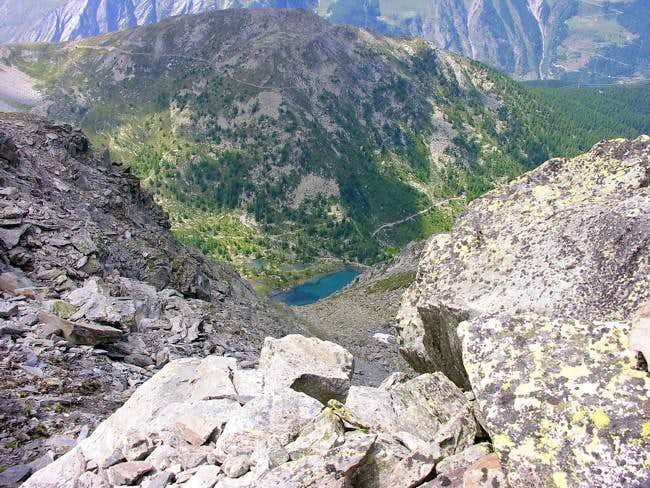 Arpy lake (2066 m) view from...