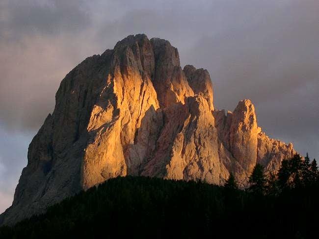 Sassolungo's north face from...