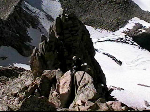On Mt. Haeckels Northwest Arete