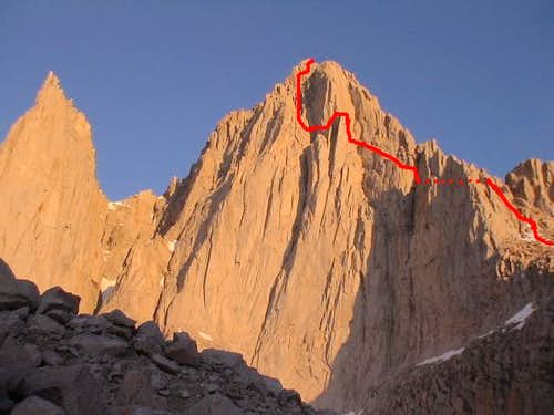 East Face Route (5.6); the...