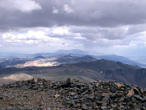 From the summit--cloudy day.