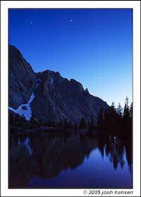 Willow Lake at Dusk. July 2005