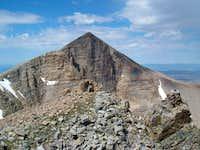 Wheeler Peak behind the...