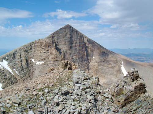 Wheeler Peak behind the...