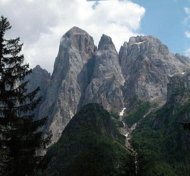Monte Agner (2872m), Torre...