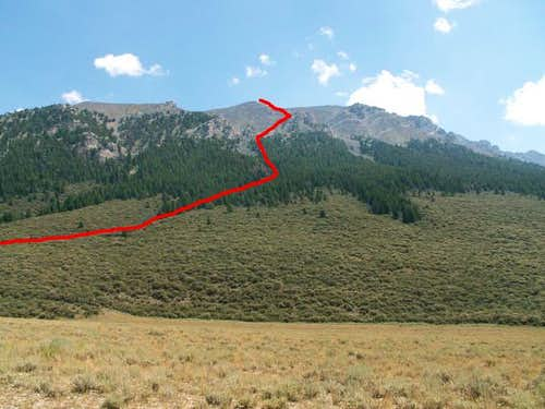 The West Ridge Route, shown...
