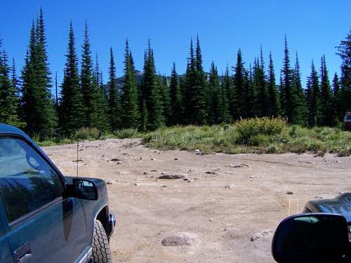 View of Mount Roothaan (past...