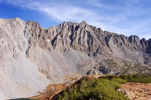 West face of Cloudripper as...