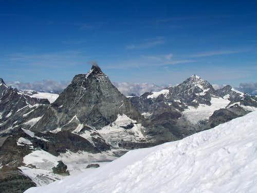 Weisshorn and Matterhorn from...