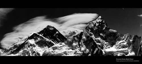 Everest and Nuptse from...