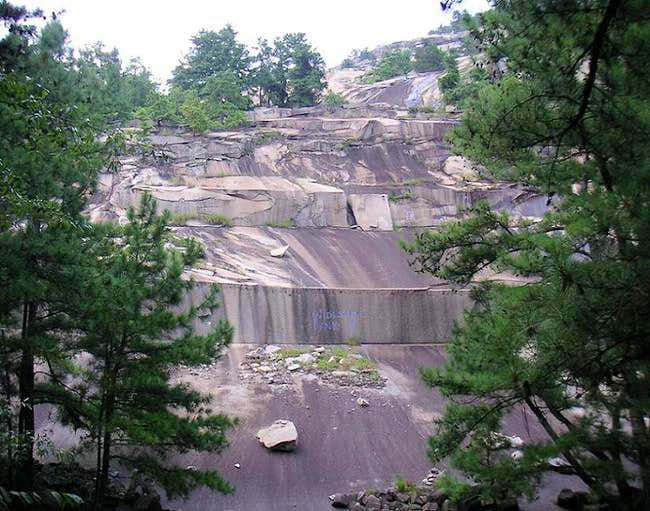 An old quarry area on the...